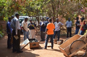 A lesson in solar drying, fuel-efficient stoves and paper briquettes