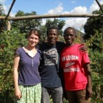 Abigail Conrad, along with her research assistants Geoffrey Mlongoti and Chisomo Kamchacha (image courtesy of www.abigailconrad.com)